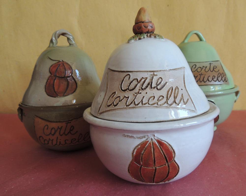 greta filippini oca ceramica artistica ferrara bomboniere regali personalizzati porta salama da sugo