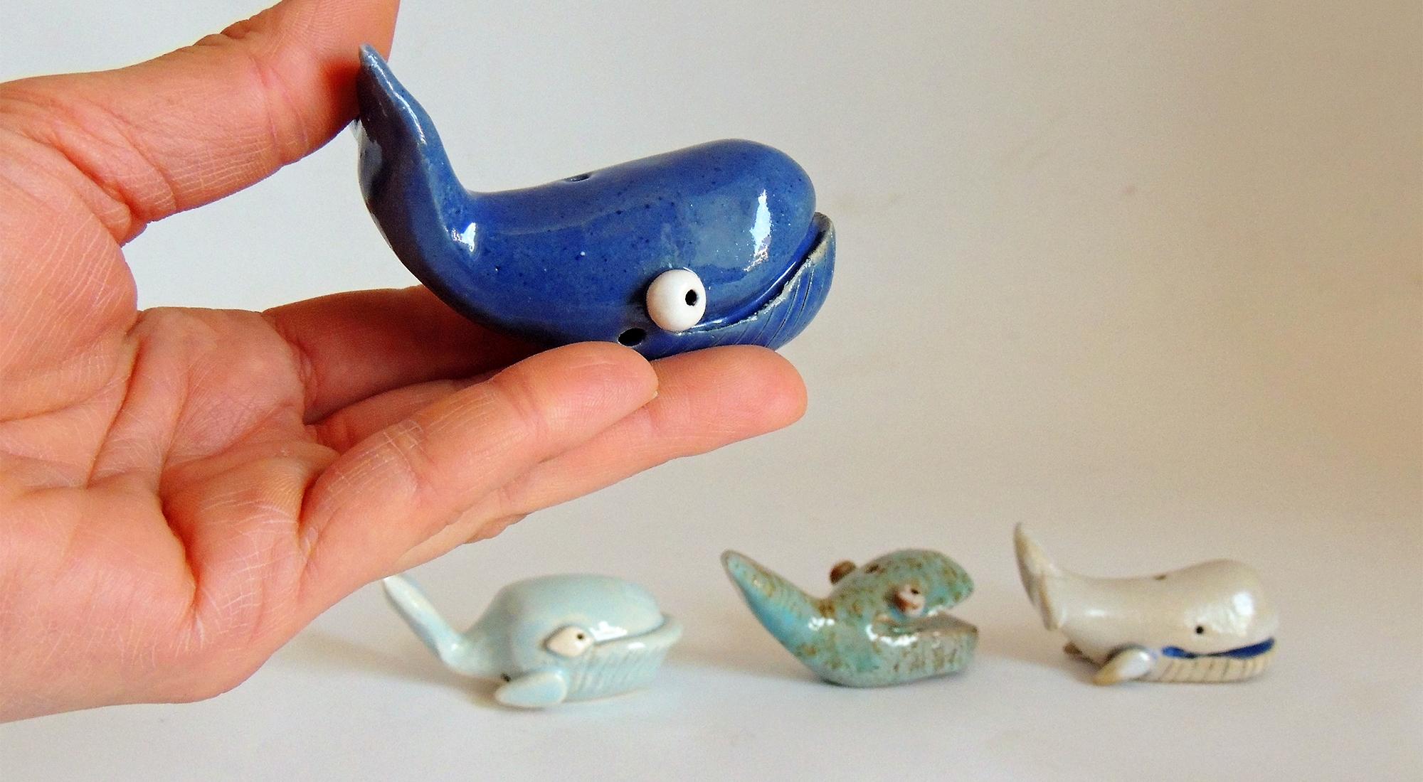 greta filippini oca ceramica artistica ferrara balene pesci