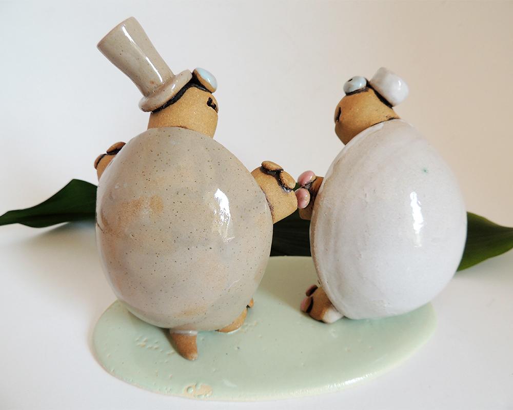 matriomionio wedding cake topper personalizzato greta filippini oca ceramica artistica ferrara