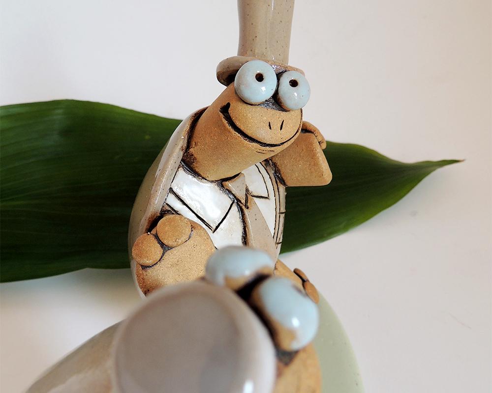 sposi tartaruga 2 greta filippini oca ceramica artistica ferrara