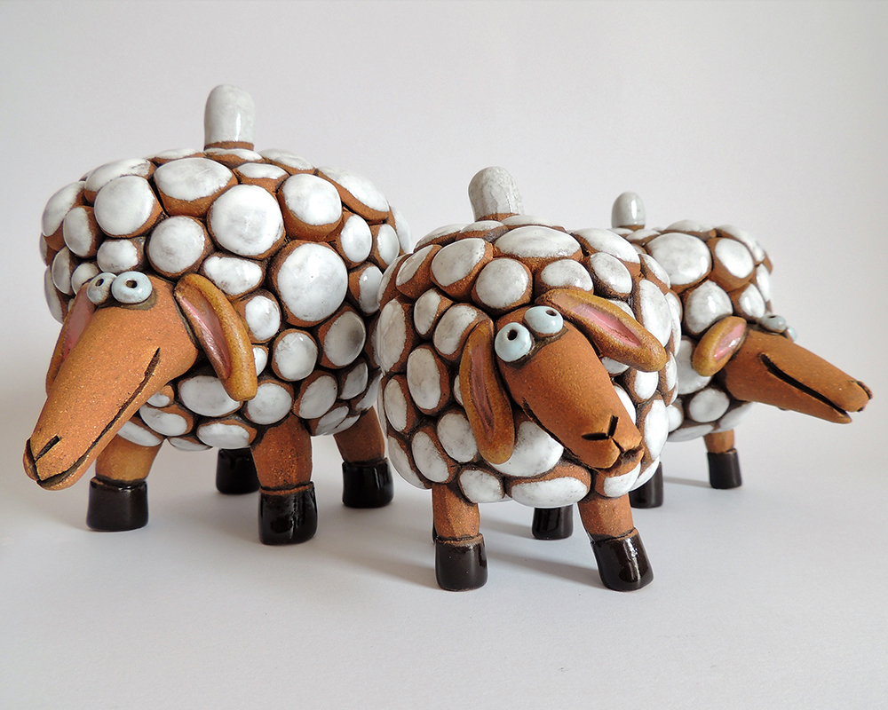 greta filippini oca ceramica artistica ferrara pecore