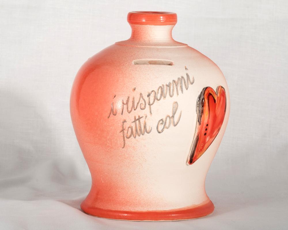 diffusore gufo presepe gufo greta filippini oca ceramica artistica ferrara bomboniere regali personalizzati salvadanaio cuore risparmi