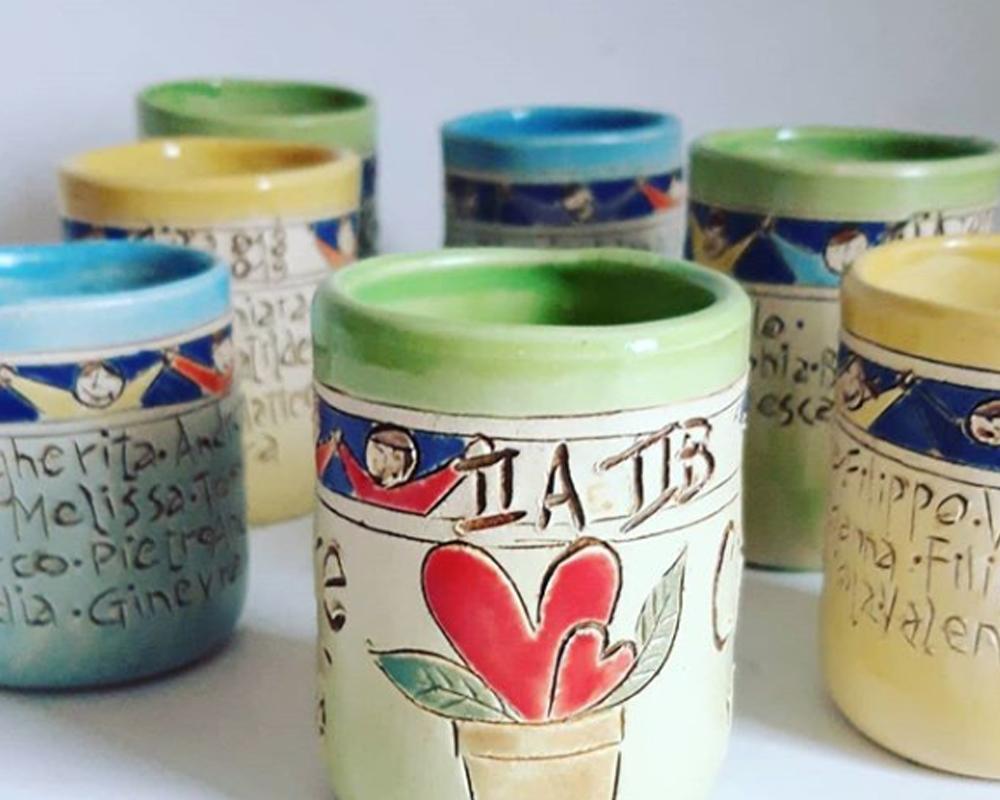 diffusore gufo presepe gufo greta filippini oca ceramica artistica ferrara bomboniere regali personalizzati tazze personalizzate
