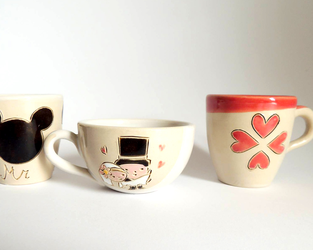 greta filippini oca ceramica artistica ferrara bomboniere regali personalizzati tazze